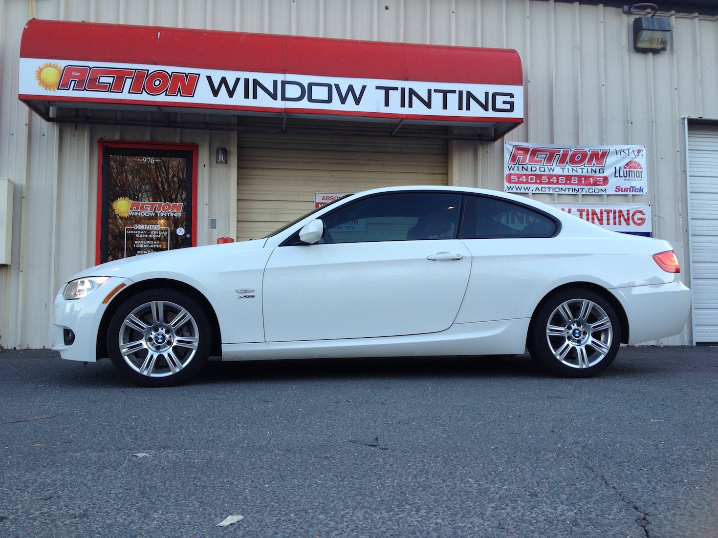 Automotive tinting action window tinting for 14 window tint